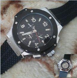 Wholesale Mechanical Racing - luxury big bang brand new! Luxury men's steel mechanical sports style F1 racing watch, black   silver style