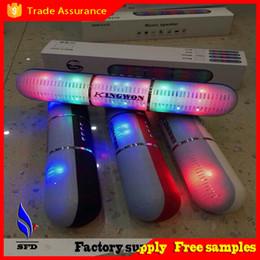 Wholesale Bluetooth Loud Speaker - HW-V318 Bluetooth Speakers Portable Wireless Pulse Pill LED Light Flash Loud Speaker Bulit-in Mic Handsfree speakers Support FM USB