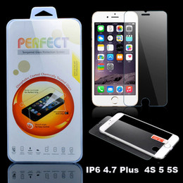 Wholesale Iphone 4s Real - For iphone 6 4.7   Plus 5.5 Premium Real Tempered Glass Film Screen Protector for iPhone6 4 4S 5 5S SE I6