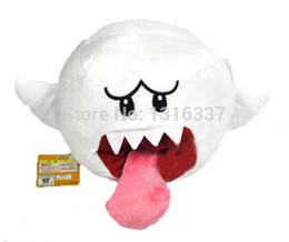 """Wholesale Mario Brothers Plush - Wholesale-6.5"""" Super Mario Brothers Boo Ghost White Stuffed Plush Doll Toy New"""