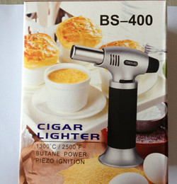 Wholesale Micro Butane - Automatic Lgnition Butane Torch 1300C 2500F Butane Scorch torch jet flame Giant Heavy Duty Butane Refillable Micro Culinary Self-lighting
