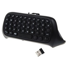 Wholesale New Microsoft Console - Wholesale-Free Shipping 2015 New Professional 1PC Mini 2.4G Wireless Keyboard 10M For Microsoft Xbox One Console Controller Black