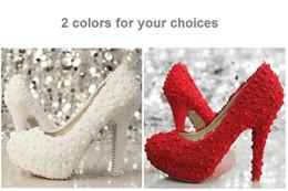 2019 lacets en laine de lavande Ivoire belle dentelle Vogue Pearl High Heels mariage chaussures de mariée
