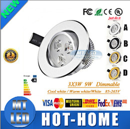 Wholesale Led Downlight Pricing - 20pcs By DHL Low Price Led Recessed lamp 9W Led ceiling light 85-265V LED lighting led downlight spot lights with led drive
