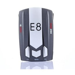 "Wholesale Vehicle Voice Detector - Car Radar Detector E8 16 Band 360 Degree 1.5"" LED with Laser Russian   English Voice Warning Vehicle Speed Control Detector E dog"