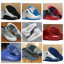 Wholesale Purple Wing Shoes - Wholesale 12 OVO Basketball Shoes 12s Wings Sports Shoes XII Master Men Sneakers the Black gold womens Athletics Boots