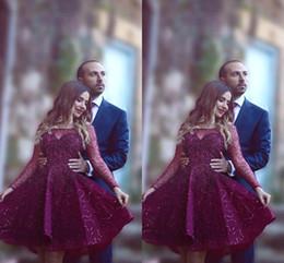 Nouveau mode rouge foncé arabe courtes robes de bal pure ras du cou perlée paillettes appliques cocktail / robes de soirée BA1772 ? partir de fabricateur