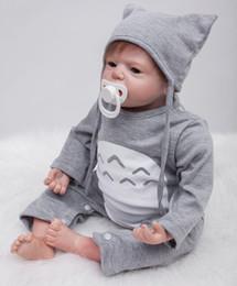 """Poupée bébé garçon en silicone reborn en Ligne-22 """"55 cm à la main réaliste bébé garçon en silicone silicone garçon fille Reborn Toddler poupées nouveau-né bebe reborn"""