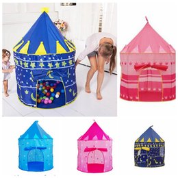 Wholesale Princess Playhouses - Girl Princess Castle Portable Kids Play Tent Indoor Outdoor Play Tents Playhouse Play Tent Kids Girl Princess Castle Outdoor House KKA3249