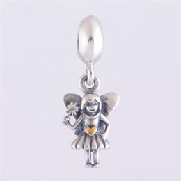 Pandora серебряный волшебный шарм онлайн-Фея мотаться очарование DIY бусины реального твердого стерлингового серебра 925 пробы не покрытием подходит оригинальный Pandora браслеты браслеты ожерелья
