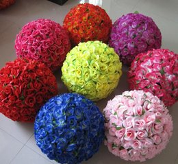 Wholesale Kissing Balls Wholesale - 60CM Wedding Shooting Props Kissing Balls Artificial Flower Ball Ornament Shopping malls opened Decoration Free Shipping
