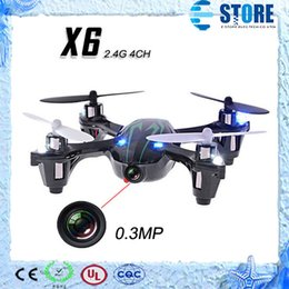 Wholesale Top Helicopter - 0.3MP Camera Drone Top Selling X6 Quadcopter RC VS Hubsan X4 H107C 4CH 2.4G w  Remote Control Toys RC Helicopter