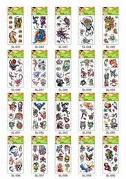 Wholesale Tigers Stickers - 60Pcs Free Shipping Mini Water Transfer Temporary Tattoo Sticker Skull Flower Tiger Eagle Lion Snake Flower... Random Cheap