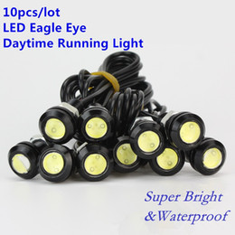 Wholesale red screws - 10PCS LED Mini Eagle Eye Parking Daytime Driving Tail Light Backup DRL Fog Lamp Bolt on Screw Car Lighting LED agle Eye lamp