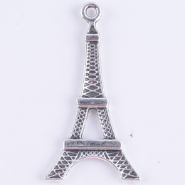 Diy Antique Silver / liga De Cobre Paris Torre Eiffel Charme Pingente Fit Pulseiras Colar De Jóias De Metal Fazendo 300 pçs / lote 719 de Fornecedores de encantos grossistas de rugby