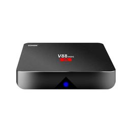 Wholesale Cheap Tv Boxes - Android 7.1 V88 tv boxe Cheapest RK3229 Quad-Core 1GB 8GB Smart Tv Box WiFi 3D HDMI TV Cheap Set-top Box Media Player