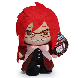 Wholesale Black Butler Grell Sutcliff Cosplay - 12inch Free Shipping Black Butler Kuroshitsuji Grell Sutcliff Cosplay Plush Stuffed Toy