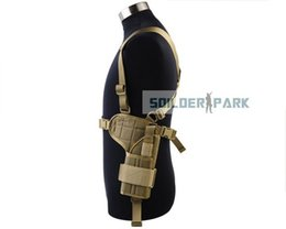 Wholesale Airsoft Military Tactical D Special Horizontal Universal Right Shoulder for Pistol Gun Armpit Holster Pouch For Right Hand order lt no t