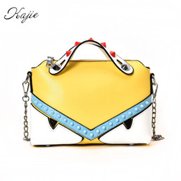 Wholesale Handbag Candy Color Rivets - wholesale Monster Bag Luxury Handbags Women Bags Designer Summer Candy Color Tote Chain Rivet Small Crossbody Shoulder Cute Bags