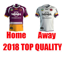 Wholesale Best Stock Shorts - 2018 NRL National Rugby League Brisbane Home red away white Rugby jersey broncos best quality New in stock 2018 brisbane rugby shirts