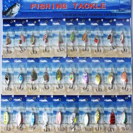 Wholesale Spinner Baits Lures Fishing - 30pcs Metal lure spinnerbait super fishing equipment hardlure pike salmon bass artificial bait card