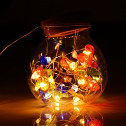 Wholesale Christmas Lights For Outdoors - USB Powered LED Ball String Light 6m 40 LED Colorful Lights Indoor Outdoor Decorative Light for Garden Party Xmas Tree Wedding Warm White