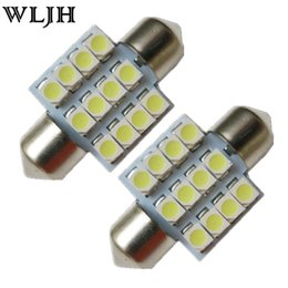 Wholesale Led Interior Lights Car - Super Bright Festoon C5W 31mm 12 Led 3528 SMD Interior Dome Map 12V Led Car LED Light Lamp DE3175 3022 3021 6428 6461