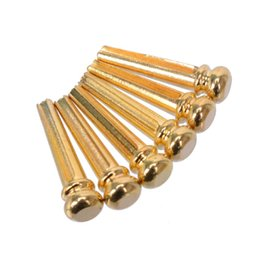 Wholesale Black Acoustic - 20pcs lot Folk Acoustic Guitar String Metal Pin Peg Nail Black Gold Chrome MU0914-MU0916