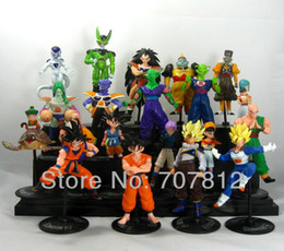 Wholesale Anime Figure Dragon Ball - 20x Crazy Party Dragon Ball Z GT Action Figure Japanese Anime Figures Toys CELL FREEZA Goku 10CM PVC 20PCS SET Free Shipping