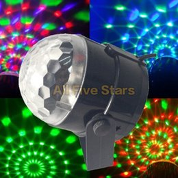 Wholesale Led Crystal Magic Ball Light - 3W Mini RGB LED Projector DJ lighting Light dance Disco Sound Voice-activated Crystal Magic ball bar Party Christmas Stage Lights Show
