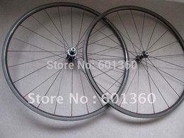 Wholesale 24mm Carbon Wheels - Wholesale-Free shipping! carbon bicycle wheel 24mm clincher, light carbon bicycle wheels (A291SB F482+CN flat 424 spokes)