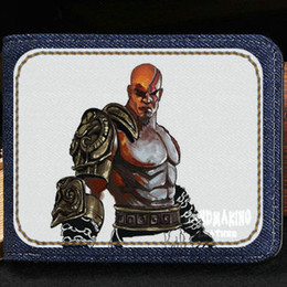 Wholesale Sport War - God of War wallet New arrive purse Game short cash note case Money notecase Leather burse bag Card holders