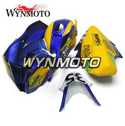 Carene per Kawasaki ZX-10R 2011 - 2015 2012 2013 2014 Cappottature per carenatura Pannelli per motocicletta Carrozzerie per carrozzeria Vetroresina Blue Yellow Scafo Cornici per pannelli da