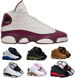 Wholesale Height Increasing Shoes Size 13 - 2018 13 Basketball Shoes Men Women Man White Gold Black Cat 13s Sports Females Authentic Real Athletic Outdoors Sneakers Size 5.5-13