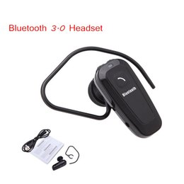 Wholesale Headphone Wireless Notebook - Super Mini Ear Hook In-ear Mono Bluetooth Headset Headphone Earphone with Charger Cable for Smartphones Tablet PC Notebook PA2062