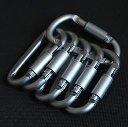 Открытый алюминиевого сплава D форма пряжки безопасности с замком алюминиевого сплава восхождение кнопка карабин противоугонные повесить пряжки кемпинг туризм крюк от