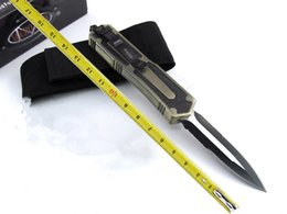 Equipement de combat en Ligne-Nouveau Microtech Golden Scarab outdoor matériel couteau de survie couteau couteau de survie outil tactique Chasse combat couteau en plein air couteaux avec sac