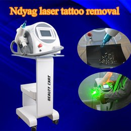 Wholesale Yag Laser Remover - 1064nm 532nm Q Switched Nd Yag Laser Tattoo Eyebrow Pigment Removal Machine Scar Acne Remover free shipping