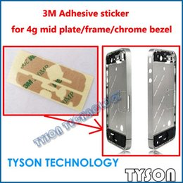 Wholesale Iphone 4s Mid Frames - Wholesale-3M Adhesive sticker for iPhone 4g 4s mid plate frame chrome bezel Free Shipping