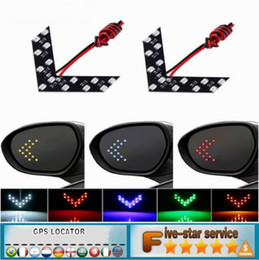 Wholesale Turn Signal Door Mirror - Car Styling Automobile rearview mirror steering light hidden LED turn indicator 14SMD LED arrow indicator