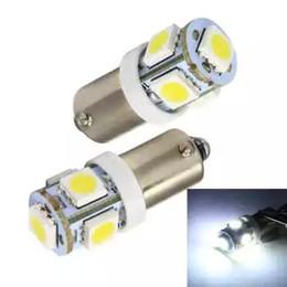 Wholesale ba9s led yellow light - 50pcs BA9S 5 SMD 5050 5 LED car Interior Bulbs Wedge Lamp Car Indicators Light