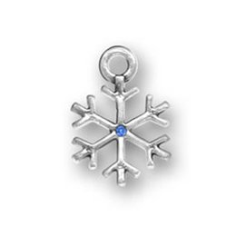 Wholesale Gold Crystal Snowflake Charm - New Arrival Antique Sliver Plated Blue Crystal Snowflake Charm For Christmas Accessories DIY Findings Jewelry