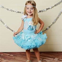 Wholesale Casual Wear For Little - Little Girls Clothing Sets For 2015 Summer Europe America Gallus Letter Tshirt + Tutu Skirt 2pcs Baby Casual Suits Small Kids Wear TR186