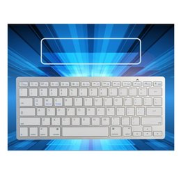 Wholesale Mobile Bluetooth Wireless Keyboard - Wireless Bluetooth 3.0 Ultra-slim Keyboard for iPad Tablet Windows Laptop Computer Android iOS Smartphone Mobile Devices C2200
