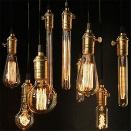 Wholesale Carbon Filament - Edison Light Bulb Chandelier Bulb Edison Antique Bulb Aka Carbon Filament Lamp Silk Bulb Lamp Antique Lamp Light Incandescent Bulbs