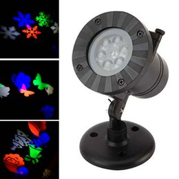 Wholesale Laser Light Projection - New Outdoor waterproof colorful led Christmas lights 12 pattern lights snowflake logo projection lamp lawn lamp laser film lights Decoration