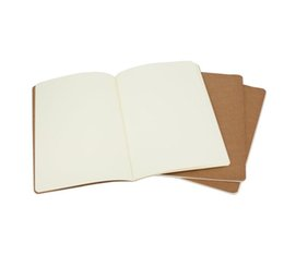 mini livro de anotações bonito Desconto Kraft Brown Unlined revistas De Viagem notebook Macio Capa Notebooks A5 Tamanho 210mm x 140mm 60 Páginas 30 Folhas papelaria material de escritório
