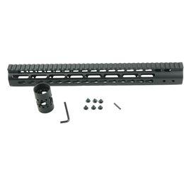 Wholesale Ar Rail Systems - Black Float NSR 15 Inch Handguard One-piece Top Rail System KeyMod High Quality Lightest For AR-15 M4 M16