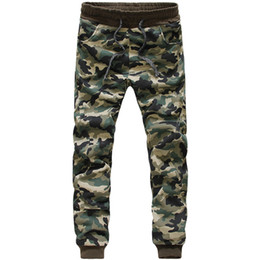 Wholesale Women Camo Pants Skinny - Wholesale-New Fashion Publish Camo Emoji Jogger Pants Men Dance Jogging Green Casual Pants Spring&Autumn Men Women Jungle Army Trousers