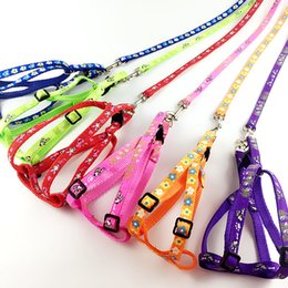 Wholesale Pet Nylon Strap - 1.0cm Bandwidth dog rope Multicolor pet leash small dogs chest straps dog chain collars Free shipping
